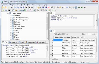 Download DTM SQL editor
