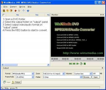 Download DVD MPEG AVI Audio Converter