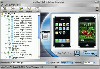 Download DVD to iphone Converter tool