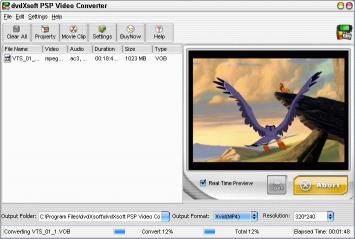 Download dvdXsoft PSP Video Converter
