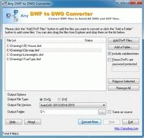 Download DWF to DWG Converter 2010.5
