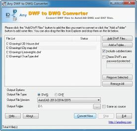 Download DWF to DWG Converter Std
