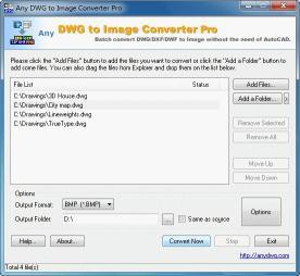 Download DWG to JPG Converter Pro 2009.7