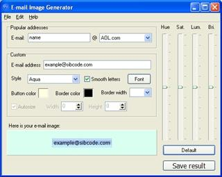 Download E-Mail Image Generator
