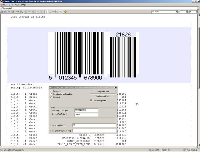 Download EAN13 barcode source code
