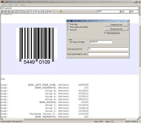Download EAN8 barcode source code
