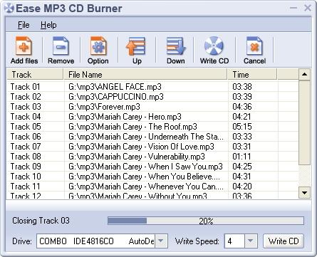 Download Ease MP3 CD Burner