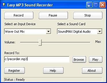 Download Easy MP3 Sound Recorder