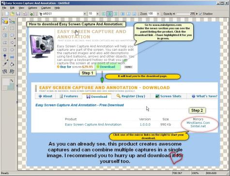 Download Easy Screen Capture And Annotation