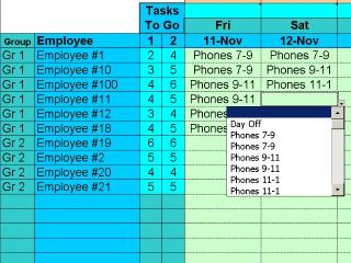 Download Easy Task Schedules with Excel