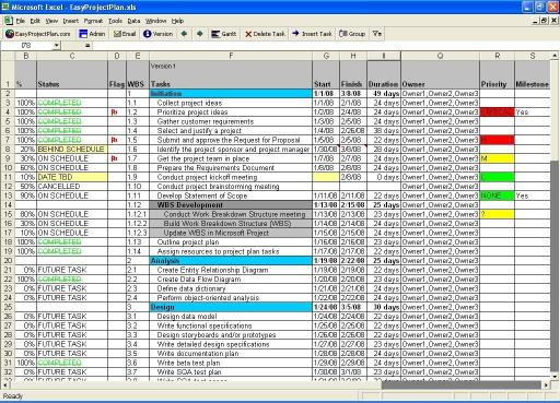 Download EasyProjectViewer Excel Project Viewer