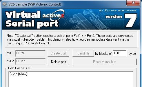 Download Eltima Virtual Serial Port AX Control