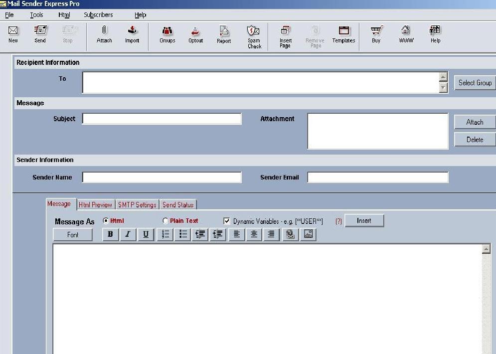 Email Sender Express Pro - standaloneinstaller com