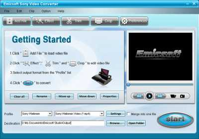 Emicsoft Sony Video Converter