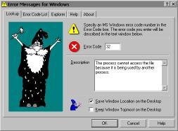 Download Error Messages for Windows