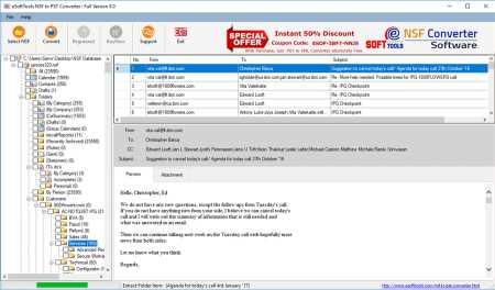 eSoftTools NSF to PST Converter