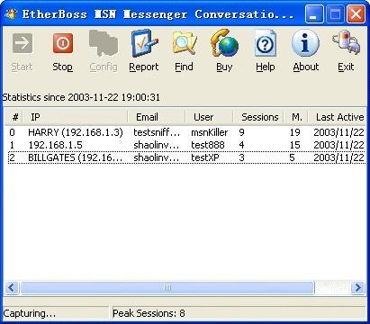 Download EtherBoss MSN Monitor, MSN Sniffer