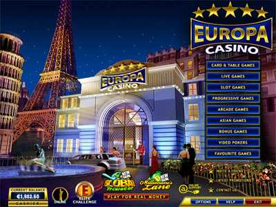 Download Europa Casino online 3D games