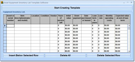 excel equipment inventory list template software. Black Bedroom Furniture Sets. Home Design Ideas