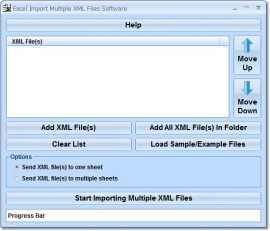 Excel Import Multiple XML Files Software