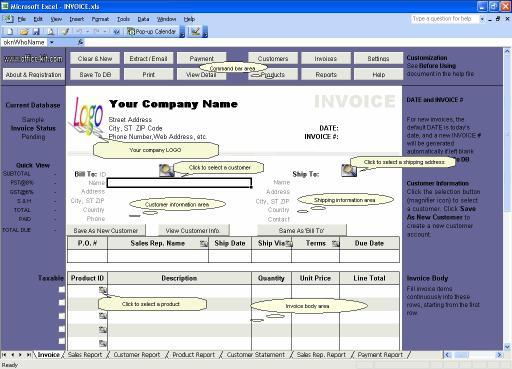 Download Excel Invoice Manager Platinum