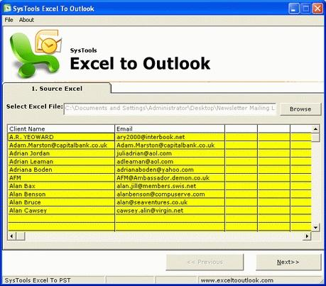 Download Excel Outlook Conversion