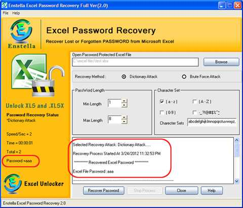 Download Excel Password Recovery