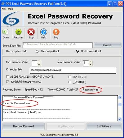 Download Excel Password Recovery Utility
