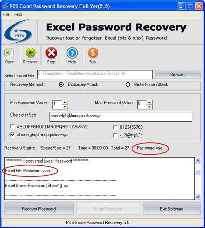 Download Excel Spreadsheet Password Recovery