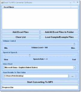 Excel To MP3 Converter Software