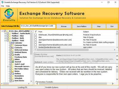 Exchange 2010 Mailbox Database Recovery
