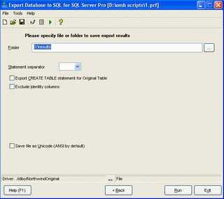 Download Export Database to SQL for SQL server