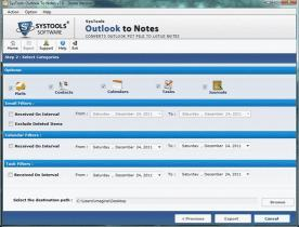 Download Export Outlook to Notes