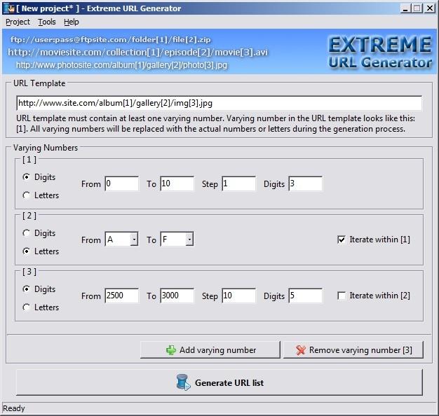 Extreme URL Generator - standaloneinstaller com