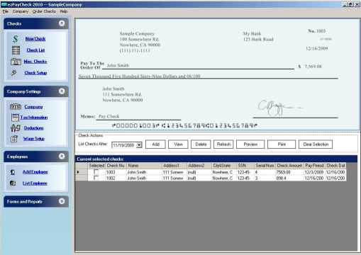 Download ezPaycheck Payroll Software