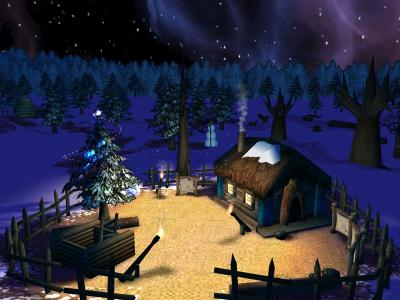 Download Fairy Christmas Day 3D Screensaver