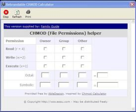 Download Family CHMOD Calculator