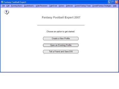 Download Fantasy Football Expert 2007