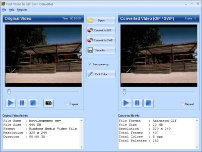 Download Fast Video to GIF SWF Converter