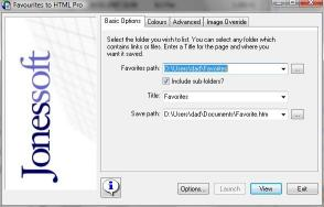 Download Favourites to HTML Pro