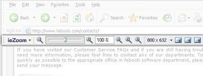Download Febooti ieZoom toolbar