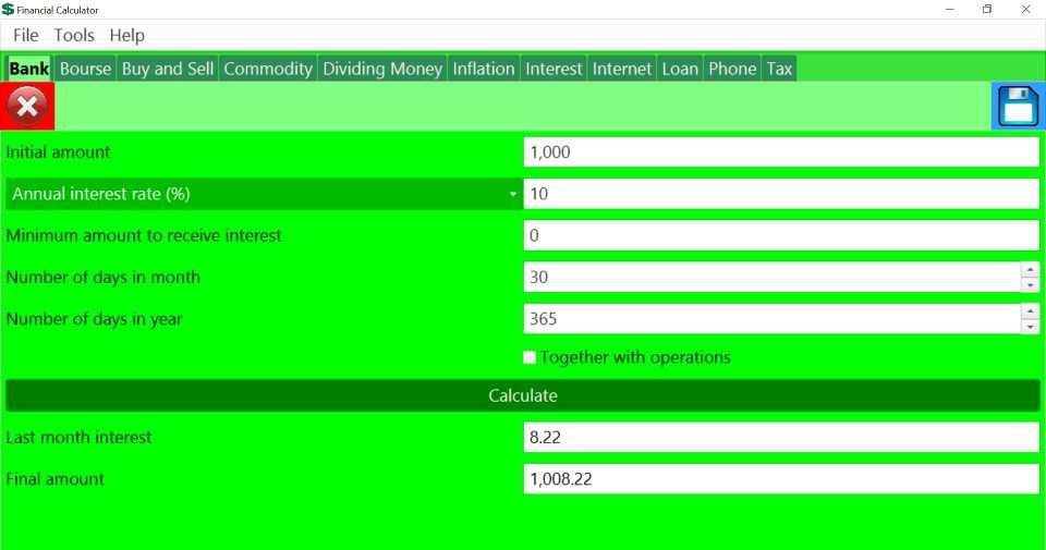 Financial Calculator (Windows setup)