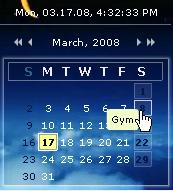 flash calendar
