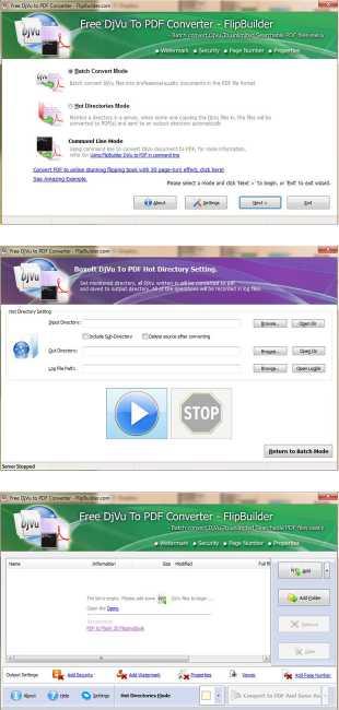 FlipBuilder DjVu to PDF (Freeware)