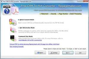 FlipPageMaker CHM to PDF