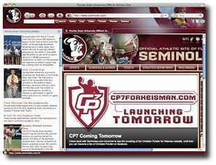 Download Florida State Seminoles IE Browser Theme