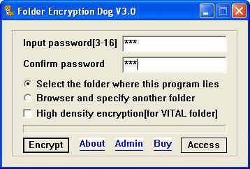 folder encryption dog