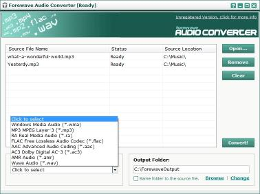 Download Forewave Audio Converter
