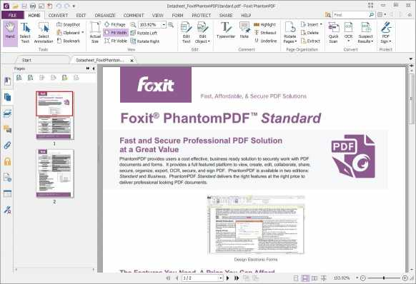 Download Foxit PhantomPDF Standard