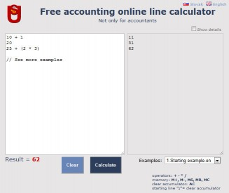 Download Free accounting online line calculator